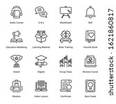 education outline icons  ...