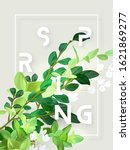 spring floral eco design with... | Shutterstock .eps vector #1621869277