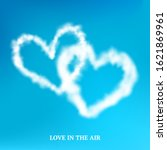 fluffy cloud hearts frame... | Shutterstock .eps vector #1621869961