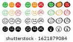 happy oke neutral and unhappy...   Shutterstock .eps vector #1621879084