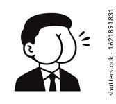butt face man in suit ... | Shutterstock .eps vector #1621891831