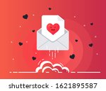rocket of mail envelope with... | Shutterstock .eps vector #1621895587