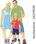 happy young family | Shutterstock .eps vector #16219030