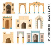 islamic gates and archs...   Shutterstock .eps vector #1621911964