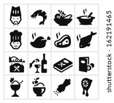 restaurant icons two   cook ... | Shutterstock .eps vector #162191465