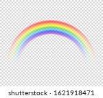 vector isolated rainbow object  ... | Shutterstock .eps vector #1621918471