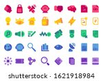 colorful ui icon set flat...