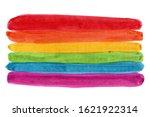 stripes of the lgbt flag...   Shutterstock . vector #1621922314