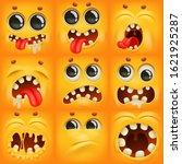 Yellow Cartoon Emoji Characters ...