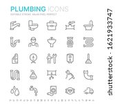 collection of plumbing related... | Shutterstock .eps vector #1621933747