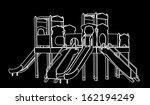 wooden castle vector. white...   Shutterstock .eps vector #162194249