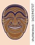 'yangban' mask in hahoetal... | Shutterstock .eps vector #1621943737
