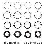 set of black circle arrows.... | Shutterstock .eps vector #1621946281