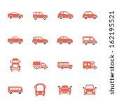 car icon set | Shutterstock .eps vector #162195521