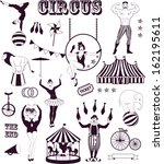 pattern of the circus | Shutterstock .eps vector #162195611