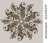 ornamental round floral lace... | Shutterstock . vector #162196247