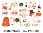 set of valentines day vector...   Shutterstock .eps vector #1621970401