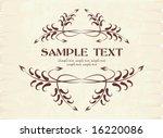 elegant texts frame.   Shutterstock .eps vector #16220086
