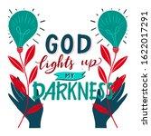 vector religions lettering  ... | Shutterstock .eps vector #1622017291