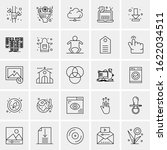 25 universal icons vector... | Shutterstock .eps vector #1622034511