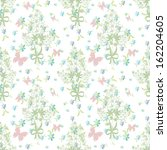 butterfly background floral... | Shutterstock . vector #162204605