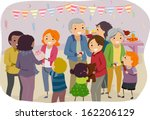 illustration of a family... | Shutterstock .eps vector #162206129