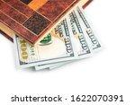 macro shot of a 100 dollar.... | Shutterstock . vector #1622070391