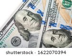macro shot of a 100 dollar.... | Shutterstock . vector #1622070394
