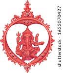 red ganesha hindu god of... | Shutterstock .eps vector #1622070427
