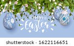 traditional easter garland with ... | Shutterstock .eps vector #1622116651