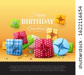 luxury birthday greeting card... | Shutterstock .eps vector #1622116654