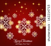 merry christmas and happy new... | Shutterstock .eps vector #162214715