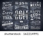 christmas and happy new year... | Shutterstock .eps vector #162214991