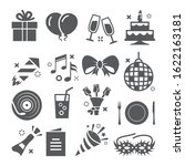 event icons set on white... | Shutterstock . vector #1622163181