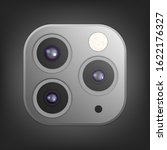 realistic camera lenses 3d icon ... | Shutterstock .eps vector #1622176327