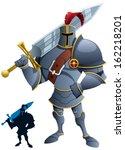 knight  cartoon knight.... | Shutterstock .eps vector #162218201