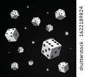 White Casino Dices Falling...