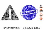 mosaic warning icon and rubber...