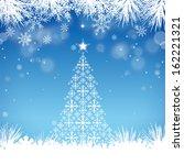 christmas tree background ... | Shutterstock .eps vector #162221321