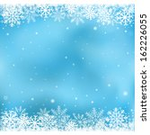 the white snow on the blue mesh ... | Shutterstock .eps vector #162226055