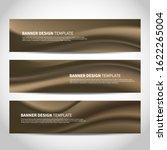 vector banners with bronze... | Shutterstock .eps vector #1622265004