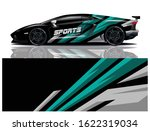 sports car wrapping decal design | Shutterstock .eps vector #1622319034