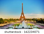 eiffel tower seen from fountain ... | Shutterstock . vector #162234071