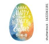 happy easter lettering on egg... | Shutterstock . vector #1622361181