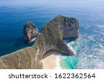rocky cliff shore aerial view... | Shutterstock . vector #1622362564