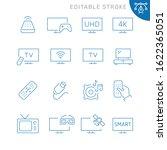tv related icons. editable...   Shutterstock .eps vector #1622365051