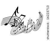 musical notes on a solid white... | Shutterstock . vector #16223713