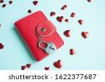 valentine's day concept. top... | Shutterstock . vector #1622377687
