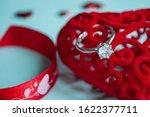 valentine's day concept. top... | Shutterstock . vector #1622377711