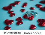 valentine's day concept. top... | Shutterstock . vector #1622377714
